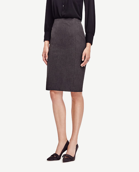 All-Season Stretch Back Pleat Skirt