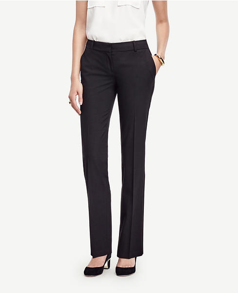 The Petite Straight Leg Pant in Seasonless Stretch - Ann Fit