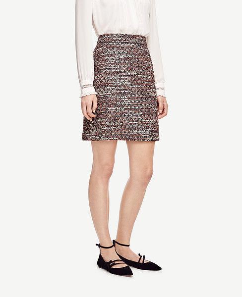 Sequin Tweed Skirt