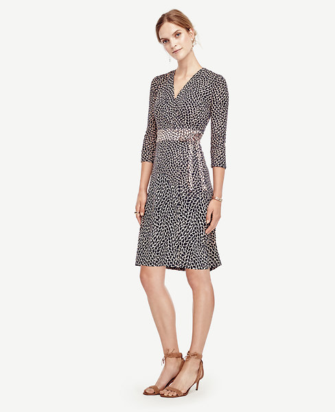 Ann Taylor Petite Leafy Wrap Dress