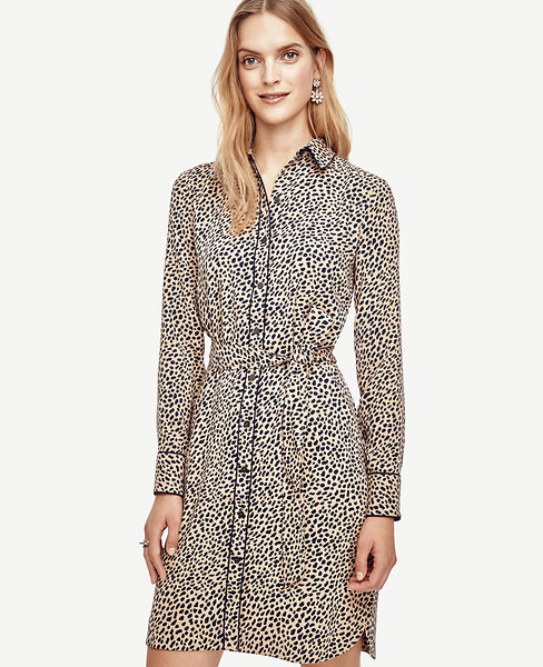 Spotted Tipped Shirtdress