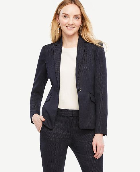 Pindot One Button Jacket