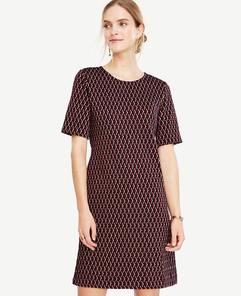 Diamond Knit Shift Dress