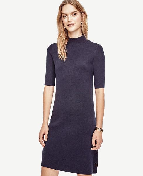 Side Button Sweater Dress