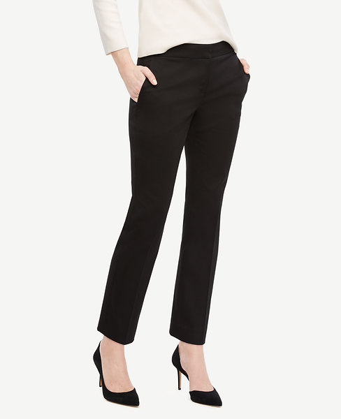 The Ankle Pant in Cotton Sateen - Devin Fit