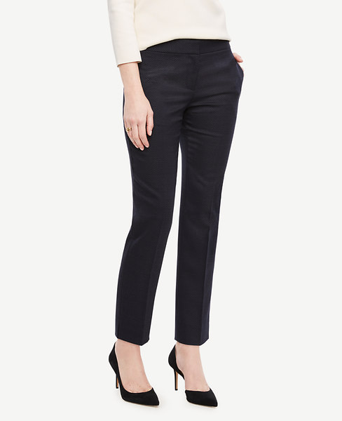The Ankle Pant in Pindot - Devin Fit