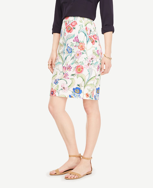 Jungle Floral Pencil Skirt