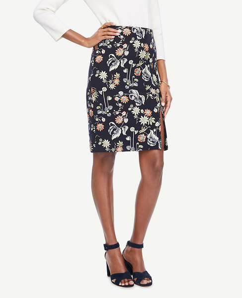 Garden Jacquard Pencil Skirt
