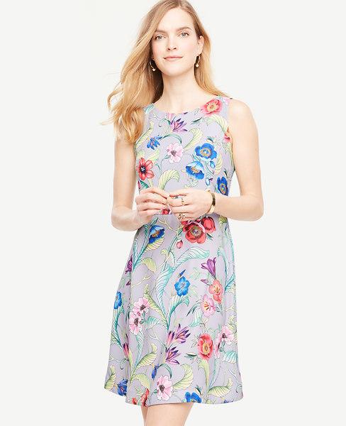 Jungle Floral Flare Dress