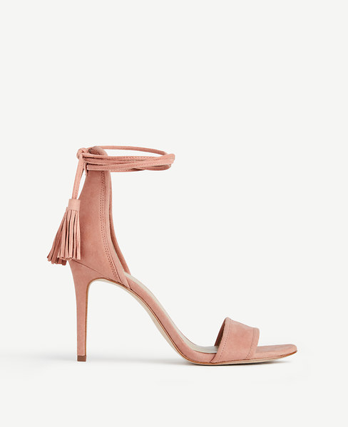 Esme Tassel Wrap Suede Sandals