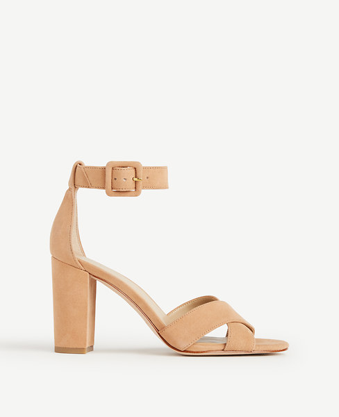 Gigi Suede Block Heel Sandals