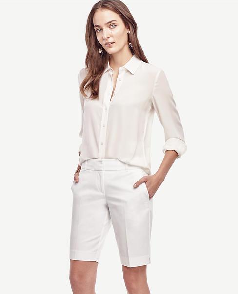 Kate Cotton Walking Shorts | Ann Taylor