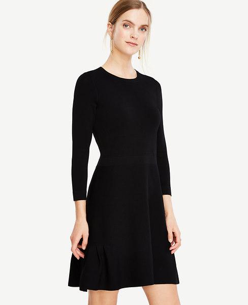 Shirred Hem Swing Dress