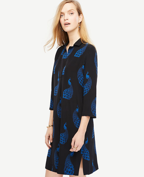 Peacock Shift Dress
