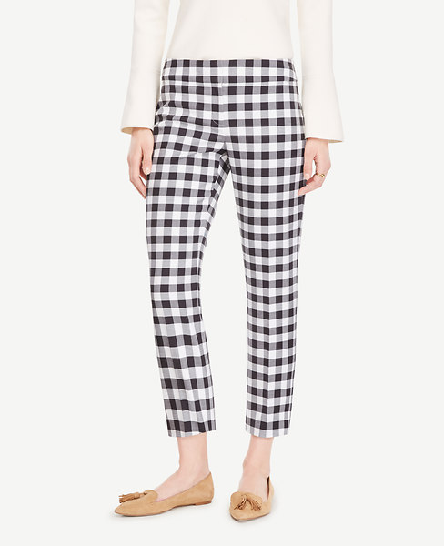 The Crop Pant in Gingham - Devin Fit
