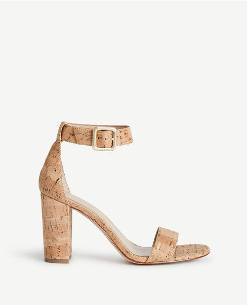 Leda Cork Block Heel Sandals