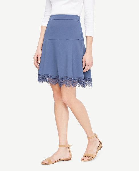 Lace Hem Flounce Skirt