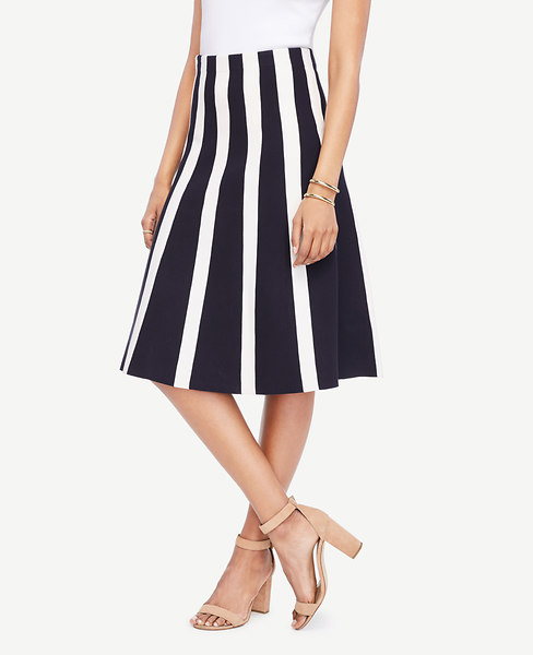 Striped Flare Sweater Skirt