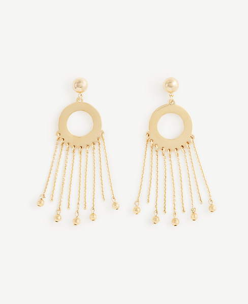 Ann Taylor Circle Chain Statement Earrings