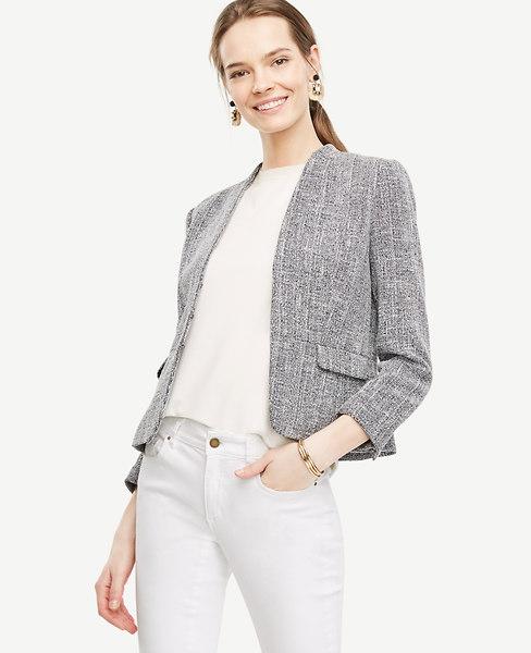 Tweed Collarless Jacket