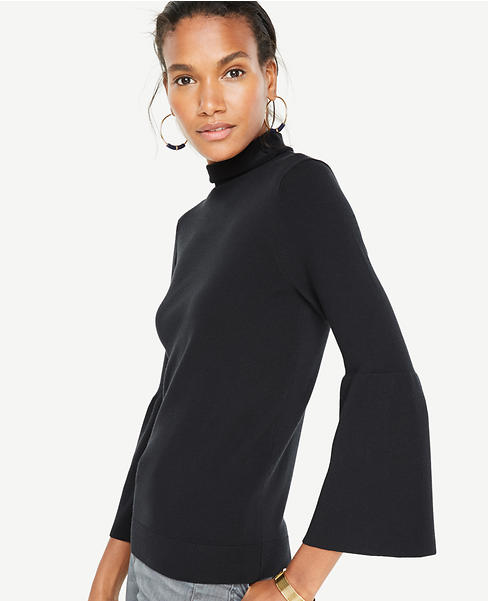Fluted Extrafine Merino Wool Sweater