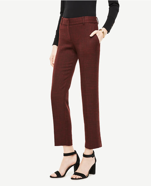 The Ankle Pant In Crosshatch Doublecloth - Devin Fit
