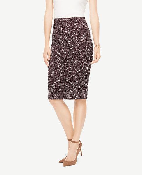Ann Taylor Knit Tweed Pencil Skirt