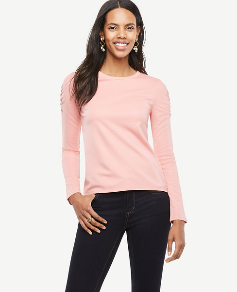 Ruched Shoulder Top