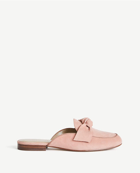 Siena Suede Bow Loafer Slides