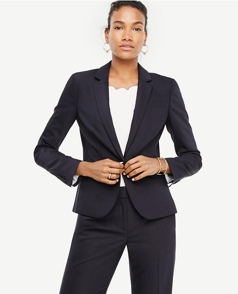 Tropical Wool One Button Perfect Blazer