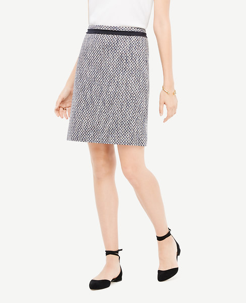 Ann Taylor Petite Mixed Tweed Skirt