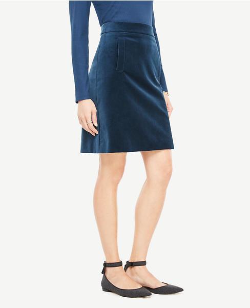 Velvet Pocket Skirt