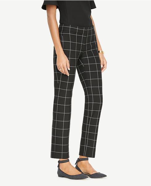 The Ankle Pant In Windowpane - Devin Fit