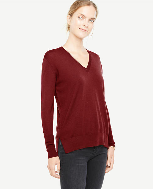 Extrafine Merino Wool V-Neck Sweater