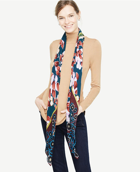 Bird Floral Square Scarf