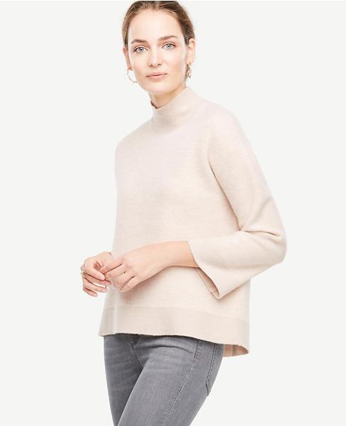 Boiled Wool Turtleneck Sweater