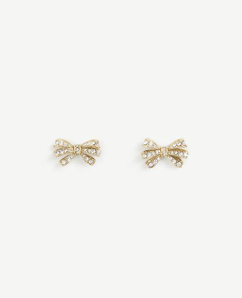 Ann Taylor Crystal Bow Earrings