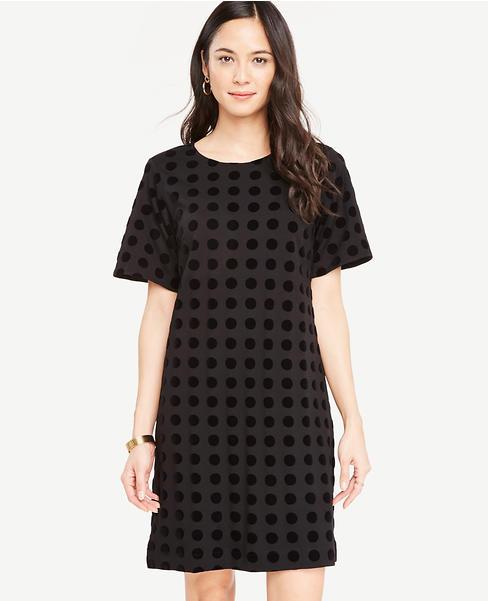 Velvet Dot T-Shirt Dress