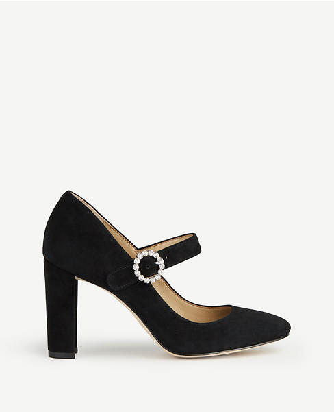 Elaine Suede Mary Jane Pumps