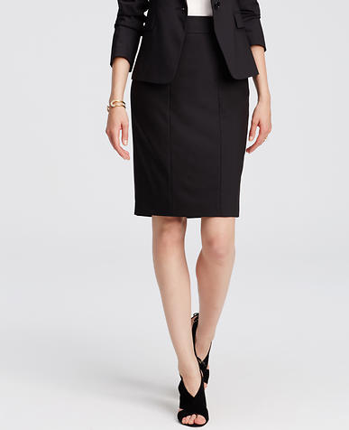 Image of Tropical Wool Pencil Skirt