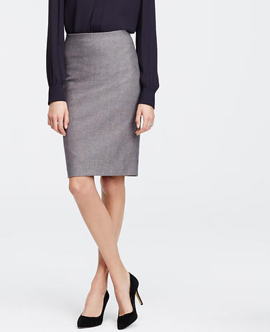 Image of Dobby Pencil Skirt