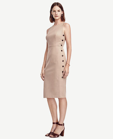 Image of Side Button Dress