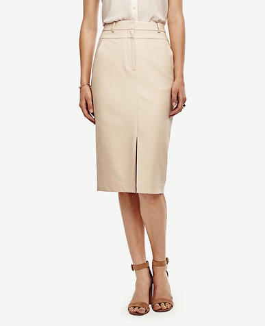 Image of Compact Twill Pencil Skirt