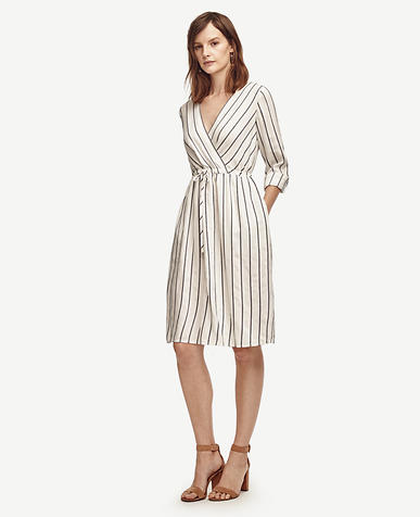 Image of Striped Tie Waist Dress