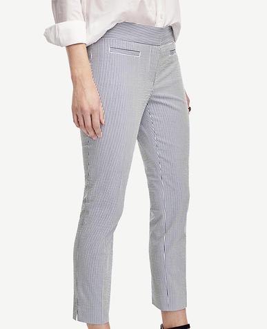 Image of Devin Seersucker Crop Pants