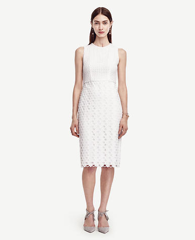 Image of Geo Eyelet Dress