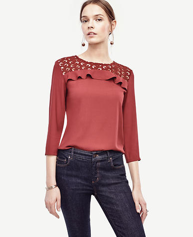 Image of Lace Yoke Top