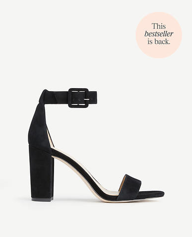 Image of Leda Suede Block Heel Sandals