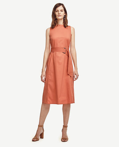 Image of Petite Bateau Belted Dress