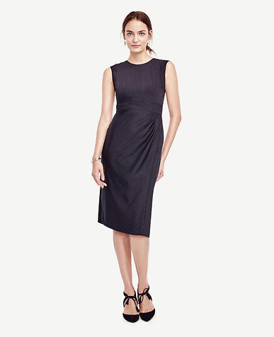Image of Pinstripe Sheath Dress